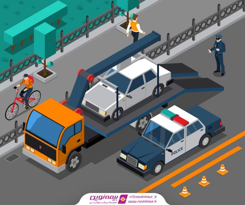 در صورت حمل خودرو به پارکینگ چه باید کرد؟